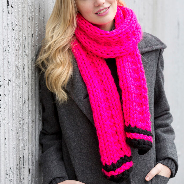 Red Heart Easy Knit Scarf in color