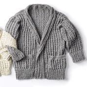 Caron Crochet Chill Time Adult's Cardigan, XS/S