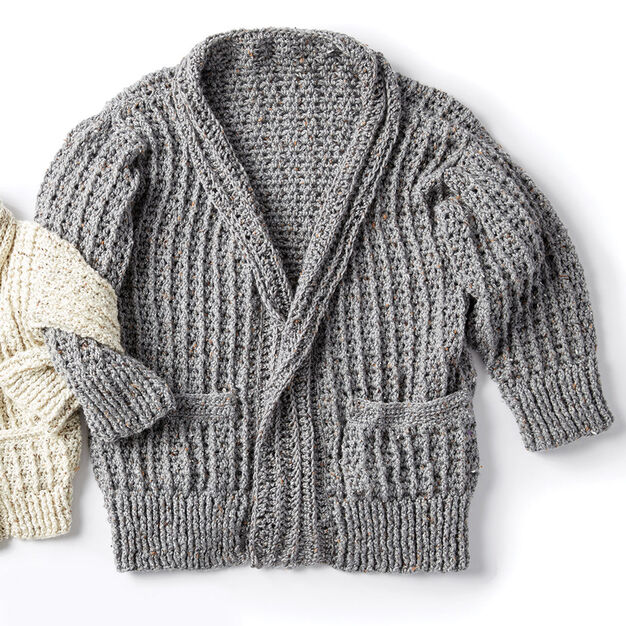 f67619b7765b Caron Crochet Chill Time Adult s Cardigan