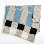Bernat Big Plaid Crochet Blanket