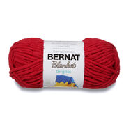 Go to Product: Bernat Blanket Brights Yarn (150g/5.3 oz), Race Car Red in color Race Car Red