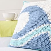 Bernat Catch a Wave Crochet Pillow
