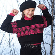 Patons Cropped Sweater with Norwegian Pattern, 4 yrs