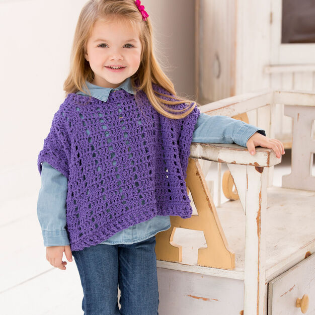 Red Heart Little Fashion Poncho, 2 yrs in color