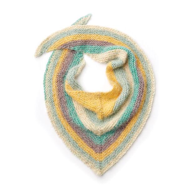 Caron Knit Asymmetrical Shawl in color