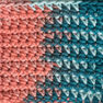 Lily Sugar'n Cream Super Size Ombres Yarn, Coral Seas Ombre in color Coral Seas Ombre