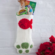 Go to Product: Red Heart Cat Paws Christmas Stocking in color