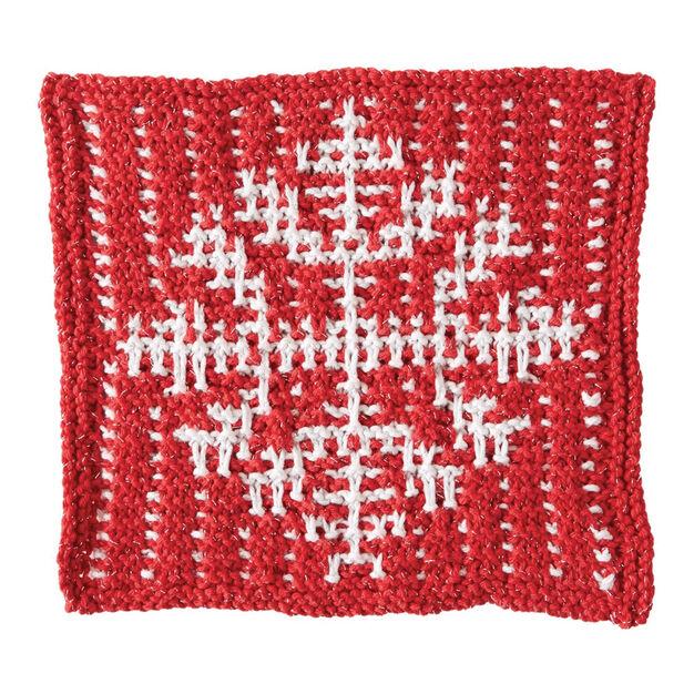 Bernat Mosaic Snowflake Dishcloth Yarnspirations