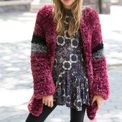 Red Heart Fab Fur Jacket, S