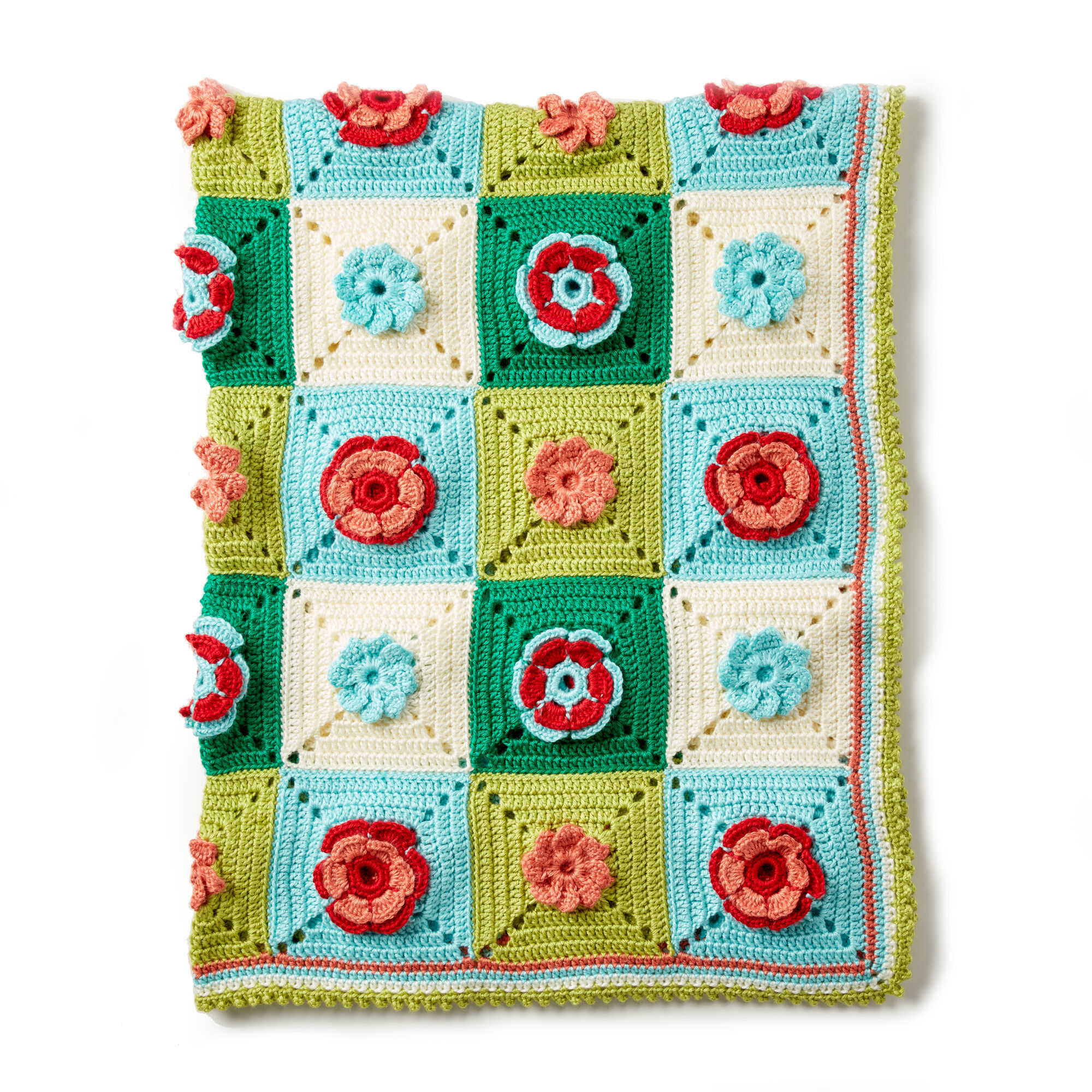 Caron Floral Granny Crochet Afghan, Version 1 Pattern | Yarnspirations