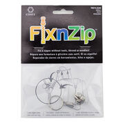 Go to Product: Coats & Clark FixnZip Replacement Zipper Slider, Small, Nickel in color