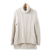 Go to Product: Patons Split Hem Cable Knit Pullover, XS/S in color