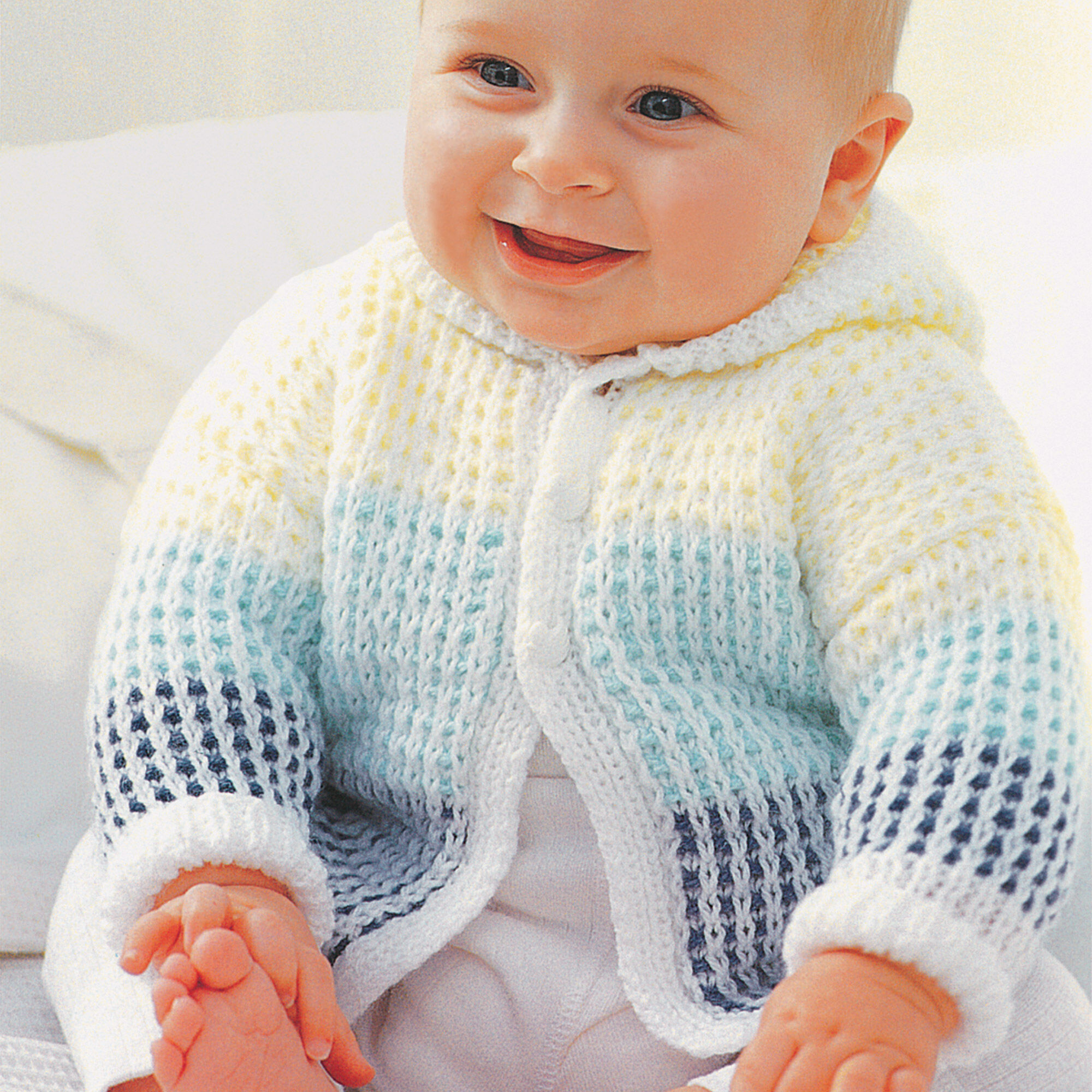 Patons Hooded Cardigan, 0-6 mos | Yarnspirations