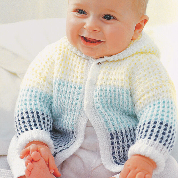 Patons Hooded Cardigan, 0-6 mos
