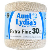 Go to Product: Aunt Lydia's Extra Fine Crochet Thread Size 30, Natural in color Natural