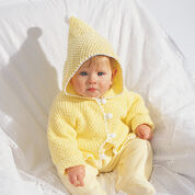 Bernat Hooded Baby Jacket, 6 mos