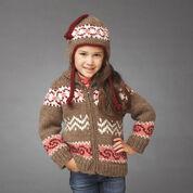 Bernat Hot Cocoa Jacket and Hat, 4 yrs