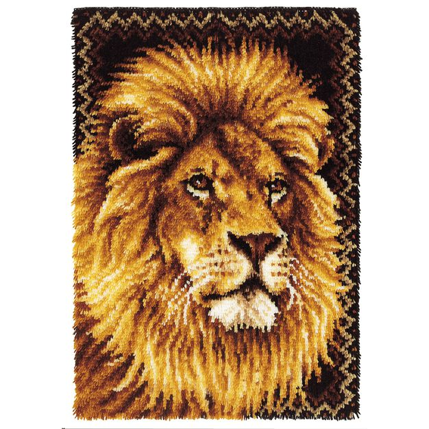 Wonderart Lion Kit 27 X 40 in color