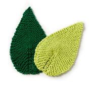 Lily Sugar'n Cream Be-Leaf It Knit Mug Rug