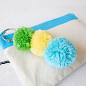Red Heart Pompom Key Fob
