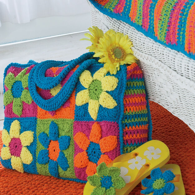 Bernat Flower Power Beach Bag