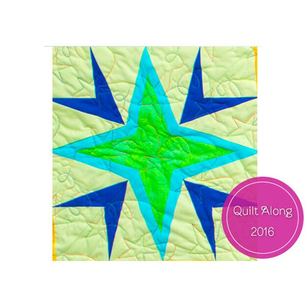 Dual Duty Milky Way Wall Hanging – Block 1 in color