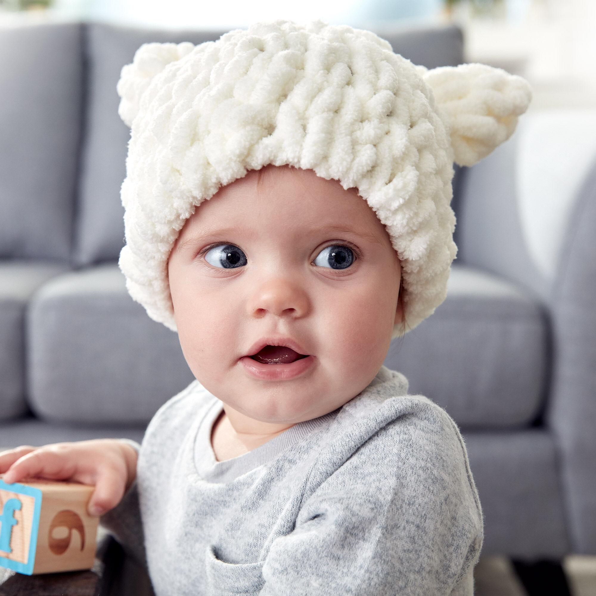 cc3b9ba6566 Bernat Alize EZ Baby Bear Hat Pattern