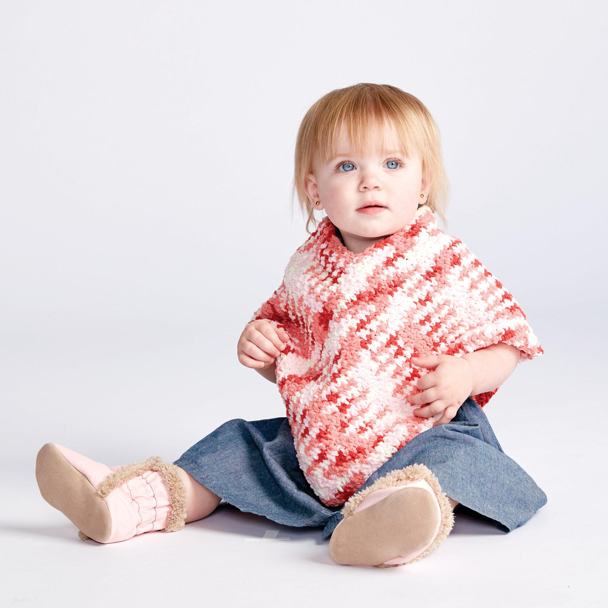 Bernat Simple Crochet Baby Poncho, 6-12 mos | Yarnspirations