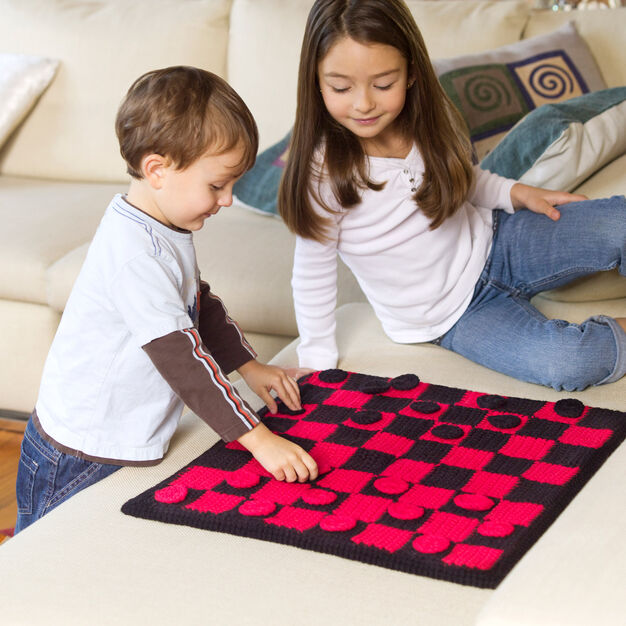 Red Heart Checkers Board Game