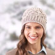 Red Heart Winter Trellis Hat, S