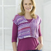 Red Heart Right Angle Knit Vest, S