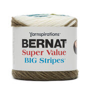 Go to Product: Bernat Super Value Big Stripes Yarn, Shoreline -clearance shades* in color Shoreline
