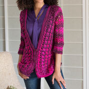 Red Heart Lacy Cardigan, S