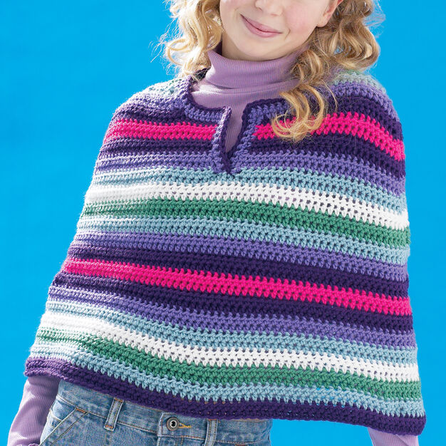 Bernat Cool Crochet Poncho, XS-M in color