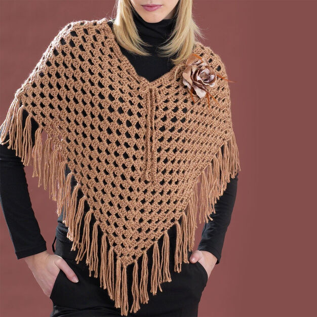 Bernat Cool Crochet Poncho, XS/S/M in color