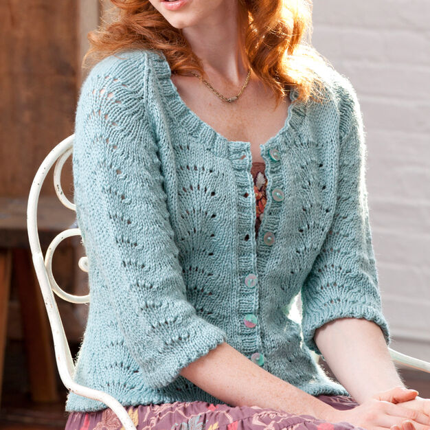 Red Heart My Fair Cardi, S in color