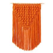 Bernat Popping Fringe Crochet Wall Hanging