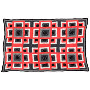 Red Heart Dynamic Squares Throw