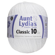 Go to Product: Aunt Lydia's Classic Crochet Thread (Jumbo) Size 10, White in color White