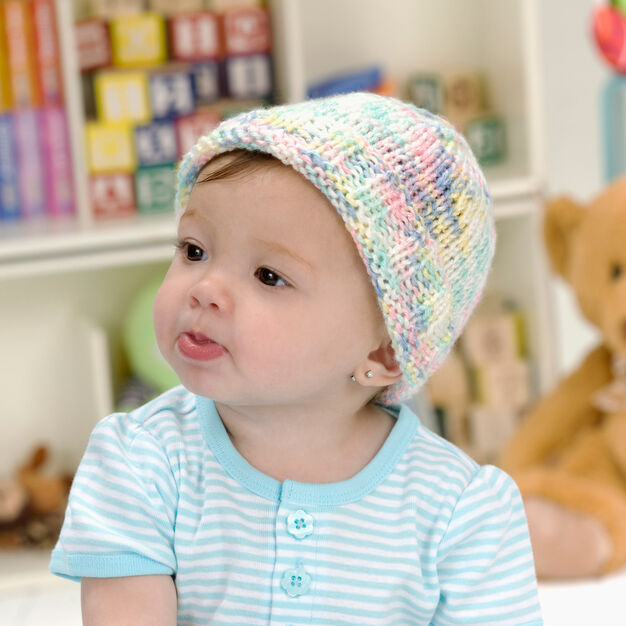 Red Heart Sweet Baby Hat, Preemie in color