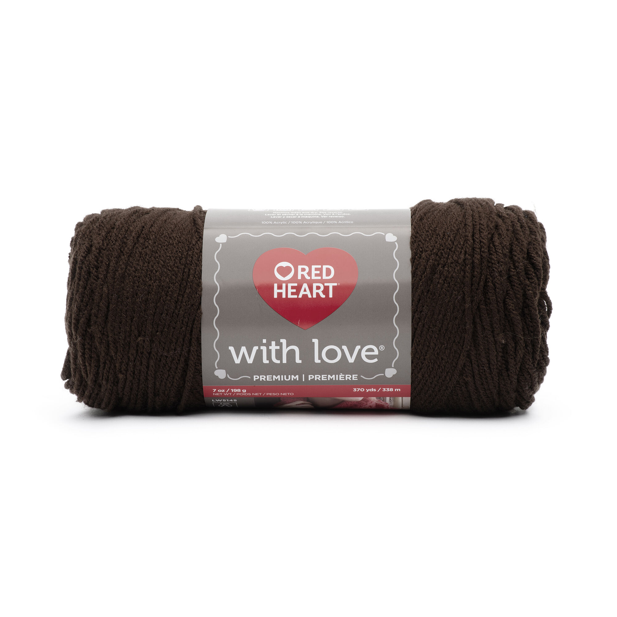 Red Heart With Love Yarn-taupe