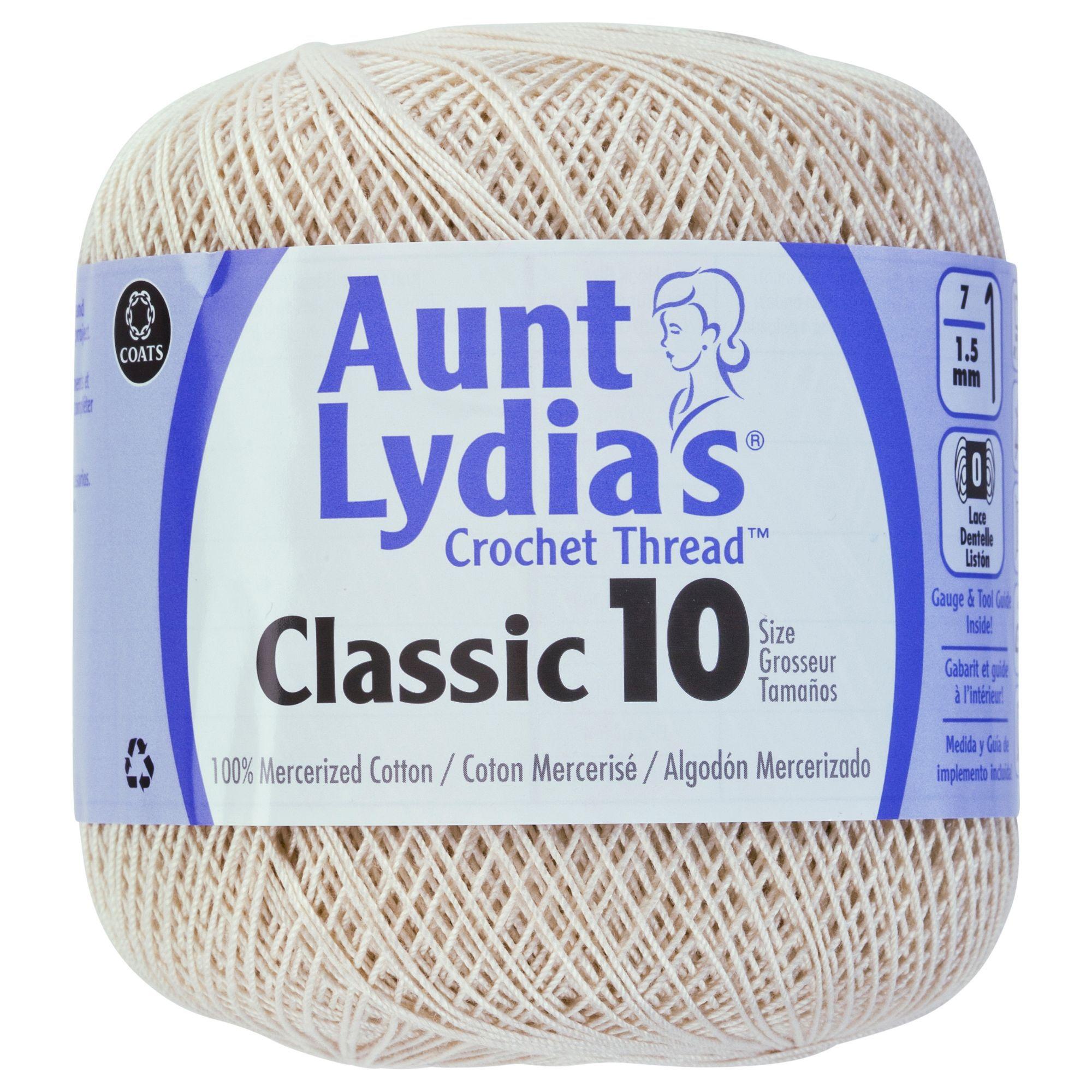 Aunt Lydia/'s Classic 10 Crochet Thread in Ecru