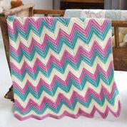 Caron Zig-Zag Baby Blanket, Version 1
