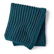 Bernat Squishy Fisherman's Rib Knit Blanket
