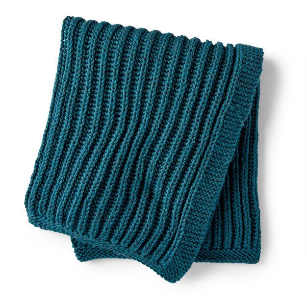 Bernat Squishy Fisherman's Rib Knit Blanket Pattern