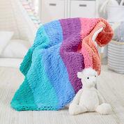 Red Heart Loop-It Rainbow Blanket