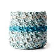 Caron Marled Crochet Basket