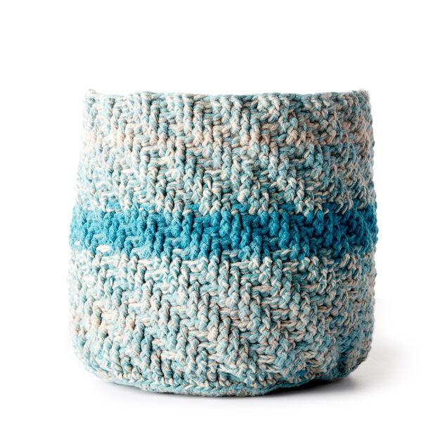 Caron Marled Crochet Basket Pattern Yarnspirations