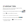Caron x Pantone Knit Color Swatch Scarf, Version 1
