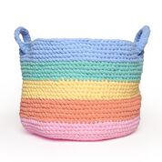 Go to Product: Bernat Crochet Rainbow Stripe Basket in color